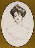 Mainstream Illustration, CHARLES DANA GIBSON (American, 1867-1944). Gibson Girl, A Widowand Her Friends, book cover, 1901. Print on paper. 17.5 ...(Total: 2 Items)