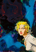 Pulp, Pulp-like, Digests, and Paperback Art, EDWARD (EMSH) EMSHWILLER (American, 1939-1990). On the Lookout,science fiction paperback preliminary cover. Gouache on ...