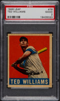 Baseball Cards:Singles (1940-1949), 1948 Leaf Ted Williams #76 PSA Good 2....