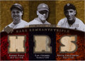 "Baseball Cards:Singles (1970-Now), 2007 Upper Deck Premier ""Rare Remnants Triple"" Foxx, Gehrig and Greenberg Baseball Bat Swatch Card #'d 2/10. ..."