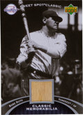 "Baseball Cards:Singles (1970-Now), 2007 Upper Deck ""Sweet Spot Classic"" Babe Ruth Game Used Bat card...."