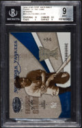 "Baseball Cards:Singles (1970-Now), 2004 Leaf ""Certified Materials"" Lou Gehrig Game Worn Jersey Swatch card #2/4 BGS MINT 9. ..."