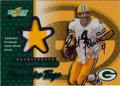 "Football Cards:Singles (1970-Now), Signed 2001 Score ""Franchise Tags"" Brett Favre Jersey Swatch card #17/50. ..."