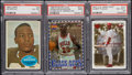 Miscellaneous Collectibles:General, Jim Brown, Michael Jordan and Pujols PSA-Graded Trio (3). ...