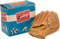 Baseball Collectibles:Others, Vintage Mickey Mantle Youth Rawlings Baseball Glove, With Box....