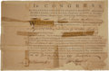 Autographs:Statesmen, John Hancock Signed Military Appointment as President of theContinental Congress....