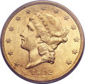 Liberty Double Eagles, 1902 $20 MS61 PCGS....
