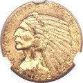 Indian Half Eagles, 1908-S $5 MS61 NGC....