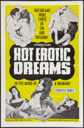 "Movie Posters:Sexploitation, Hot Erotic Dreams & Other Lot (Cosmos Productions, Inc., 1968).One Sheets (2) (27"" X 41""). Sexploitation.. ... (Total: 2 Items)"