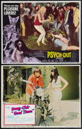 """Movie Posters:Exploitation, Psych-Out and Others Lot (American International, 1968). Lobby Cards (2) (11"""" X 14"""") and One Sheet (27"""" X 41""""). Exploitation... (Total: 3 Items)"""