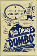 """Movie Posters:Animation, Dumbo (Buena Vista, R-1950s). One Sheet (27"""" X 41""""). Animation....."""