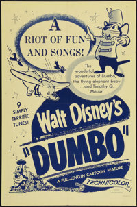 "Dumbo (Buena Vista, R-1950s). One Sheet (27"" X 41""). Animation"