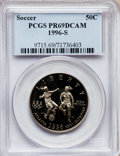 Modern Issues, 1996-S 50C Olympic/Soccer Half Dollar PR69 Deep Cameo PCGS. PCGSPopulation (883/21). NGC Census: (1/0). Numismedia Wsl. P...