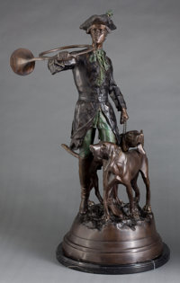 A PATINATED BRONZE FIGURAL GROUP AFTER CHRISTOPHE FRATIN (FRENCH, 1801-1864) Late 19th century Marks: FRAT