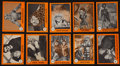 "Non-Sport Cards:Sets, 1961 Nu-Card ""Horror Monsters"" Complete Orange Set (80). ..."