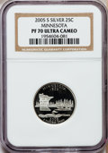 Proof Statehood Quarters, 2005-S 25C Minnesota Silver PR70 Ultra Cameo NGC. NGC Census: (0).PCGS Population (301). Numismedia Wsl. Price for proble...