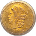 California Fractional Gold: , 1873 25C Liberty Round 25 Cents, BG-817, R.3, MS65 PCGS. PCGSPopulation (20/3). NGC Census: (5/6). (#10678)...