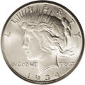 Peace Dollars: , 1934-S $1 MS65 PCGS. While the 1934-S is considered the key-date ofthe Peace dollar series, ...