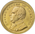 Commemorative Gold: , 1903 G$1 Louisiana Purchase/McKinley MS67 NGC. Solidly struckoverall and frosty with intense taxi-yellow surfaces softened...