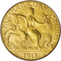 Commemorative Gold: , 1915-S $2 1/2 Panama-Pacific Quarter Eagle MS64 PCGS. A satinylemon-gold beauty with impressively smooth fields and device...