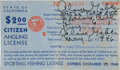 Movie/TV Memorabilia:Autographs and Signed Items, A Clark Gable Signed Fishing License, 1946....