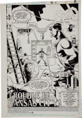 Original Comic Art:Splash Pages, Steve Lightle and Gary Martin Doom Patrol #4 Splash page 1Original Art (DC, 1987)....