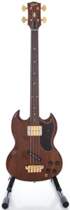 Musical Instruments:Bass Guitars, Circa 1966 Gibson EB-0 Refinished Electric Bass Guitar, Serial #553718....