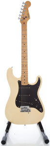 Musical Instruments:Electric Guitars, 1983 Fender Stratocaster USA Olympic White Solid Body Electric Guitar, Serial #E337972....