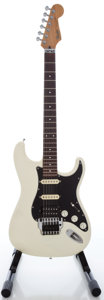 Musical Instruments:Electric Guitars, 1987 Fender Stratocaster MIJ White Solid Body Electric Guitar,Serial #E798282....