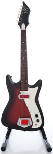 Musical Instruments:Electric Guitars, 1960's Kay Redburst Solid Body Electric Guitar...