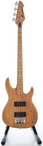 Musical Instruments:Bass Guitars, 1980's Peavey Foundation Natural Electric Bass Guitar, Serial #01799221....