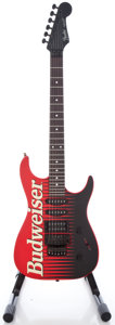 Musical Instruments:Electric Guitars, 1989 Fender Stratocaster USA Red Solid Body Electric Guitar, Serial#E900239....