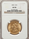 Liberty Eagles: , 1853 $10 AU58 NGC. NGC Census: (177/38). PCGS Population (26/25).Mintage: 201,253. Numismedia Wsl. Price for problem free ...