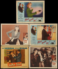 """Juke Girl and Other Lot (Warner Brothers, 1942 & R-1950s). Lobby Cards (5) (11"""" X 14""""). Bad Girl. ... (Tot..."""