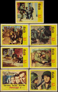 """Movie Posters:War, Kings Go Forth (United Artists, 1958). Title Lobby Card and LobbyCards 6)(11"""" X 14""""). War.. ... (Total: 7 Items)"""