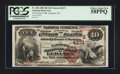 National Bank Notes:Kentucky, Lebanon, KY - $10 1882 Brown Back Fr. 484 The Farmers NB Ch. #(S)4271. ...