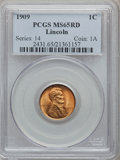 Lincoln Cents: , 1909 1C MS65 Red PCGS. PCGS Population (977/543). NGC Census: (700/346). Mintage: 72,702,616. Numismedia Wsl. Price for pro...