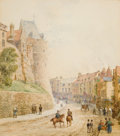 Fine Art - Work on Paper:Watercolor, LOUISE RAYNER (British, 1829-1924). Street Scene in Windsor.Watercolor on paper . 10-1/2 x 9 inches (26.7 x 22.9 cm). S...