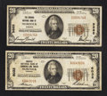 National Bank Notes:Virginia, Norfolk, VA - $20 1929 Ty. 1 Norfolk NB of Commerce & TrustsCh. # 6032; $20 1929 Ty. 1 The Virginia NB Ch. # 9885. ... (Total:2 notes)