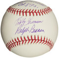 "Autographs:Baseballs, Bobby Thomson and Ralph Branca ""The Shot Heard Round the World""Multi Signed Baseball. ..."