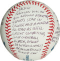 Baseball Collectibles:Balls, Clyde King Single Signed Story Baseball - With Jackie RobinsonContent....
