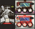 Baseball Cards:Singles (1970-Now), 2000's Baseball Memorabilia Swatch and Signed Inserts Trio (3) WithDean and Reyes. ...
