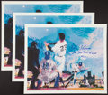 "Baseball Collectibles:Others, Bobby Thomson ""Shot Heard 'Round the World"" Signed Lithographs Lotof 3...."