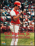 Baseball Collectibles:Uniforms, Cal Ripken Jr. Signed Rochester Red Wings Poster....