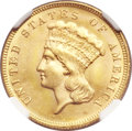 Three Dollar Gold Pieces, 1884 $3 MS64 NGC....