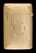 Silver Smalls:Match Safes, A GORHAM 14K GOLD MATCH SAFE . Gorham Manufacturing Co.,Providence, Rhode Island, circa 1910. Marks: (anchor-lion), 14K,...