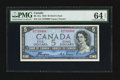 Canadian Currency: , BC-31a $5 Devil's Face 1954. . ...