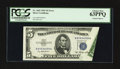 Error Notes:Foldovers, Fr. 1655 $5 1953 Silver Certificate. PCGS Choice New 63PPQ.. ...
