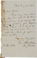 Autographs:Military Figures, George McClellan War-dated Autograph Letter Signed. ...