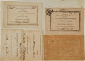 """Miscellaneous:Ephemera, [Benjamin Rush] Printed Pass to Attend """"Lectures, Upon theInstitutes and Practices of Medicine and on Clinical Cases, byBenj..."""